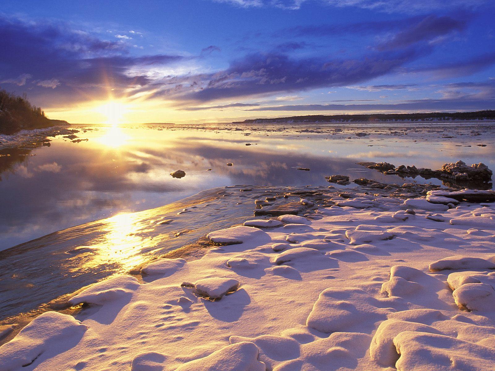 Alaska'da gün batımı