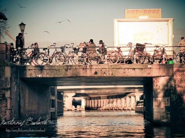 Amsterdam kanal köprü