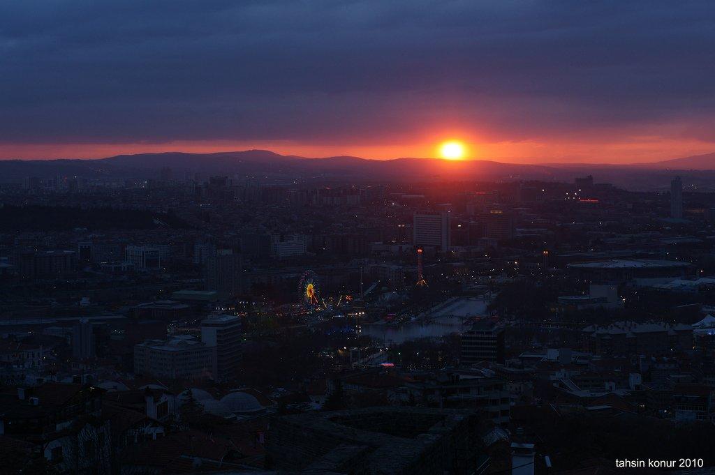 ankara kalesi gün batımı