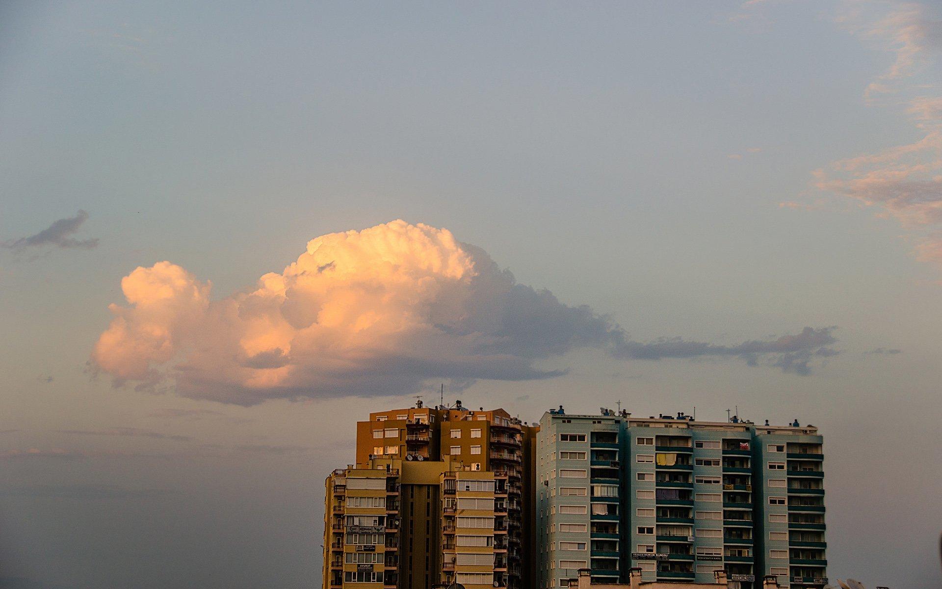 antalya bulutlar ve gün batımı
