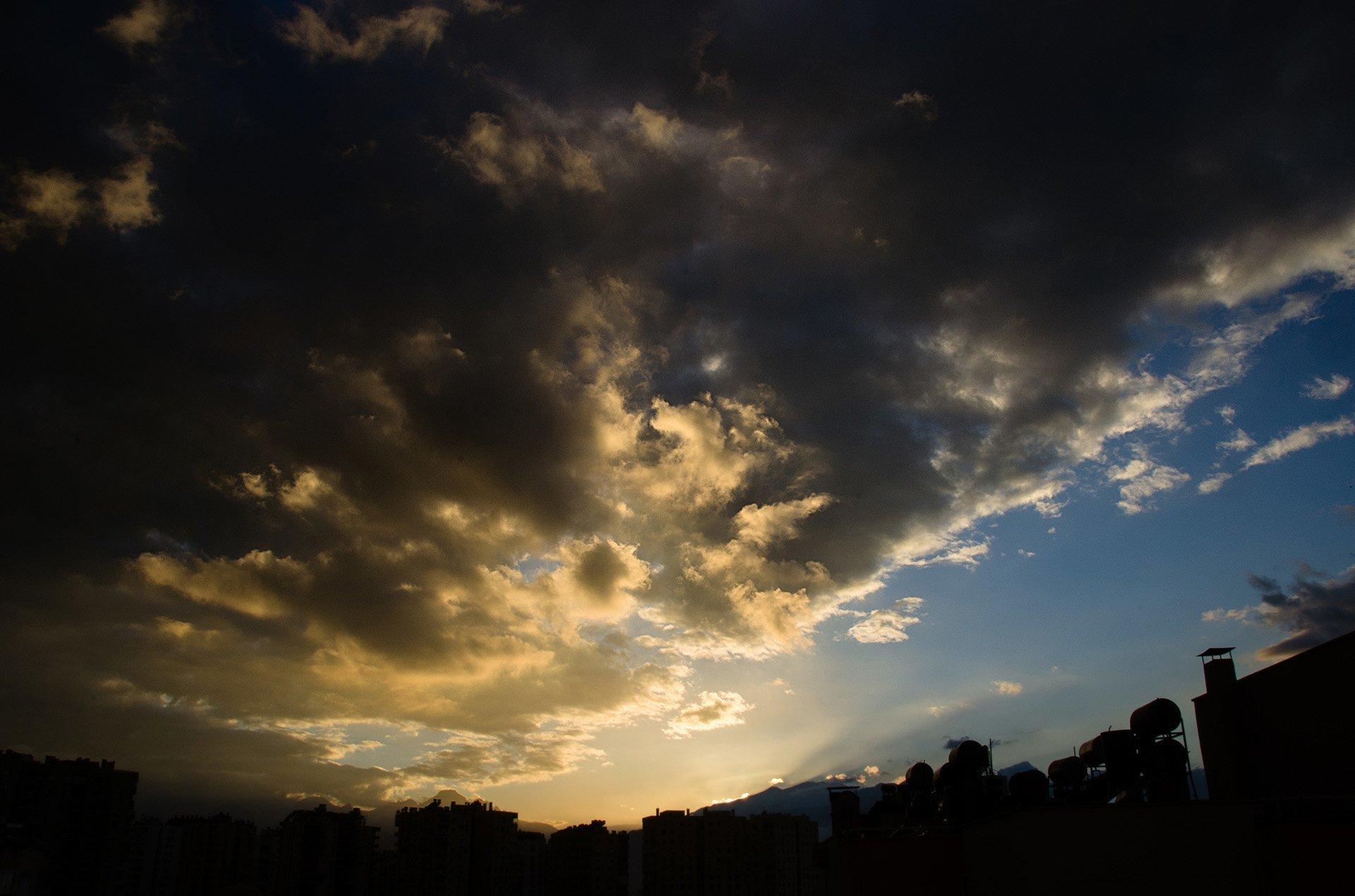 antalya ve gün batımı