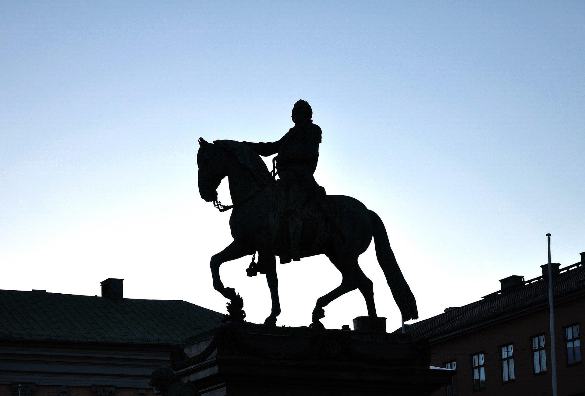 atlı heykel – stockholm