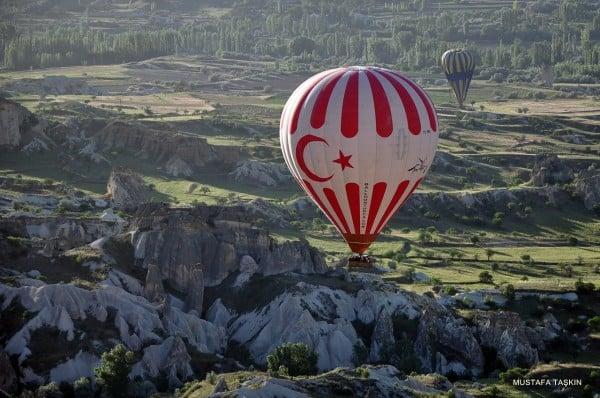 ay yıldız logolu balon