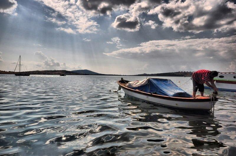 ayvalık balıkçı ve tekne