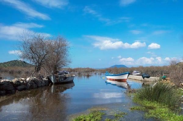 bafa gölü manzarası
