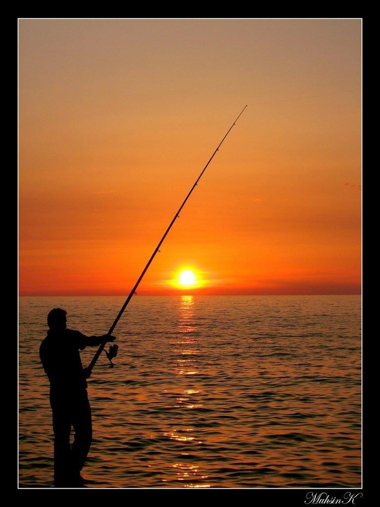 balıkçı ve gün doğumu