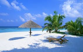 beyaz kumsal manzarası