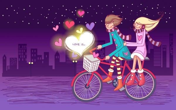 bisikletli aşıklar