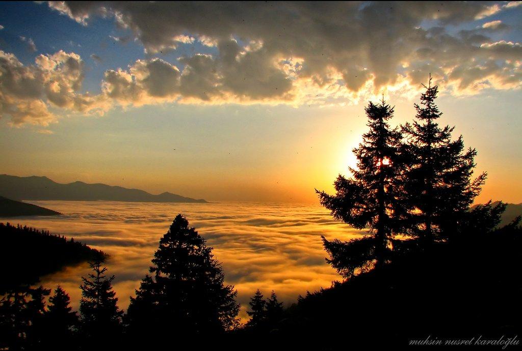 bulutlar ve gün batımı