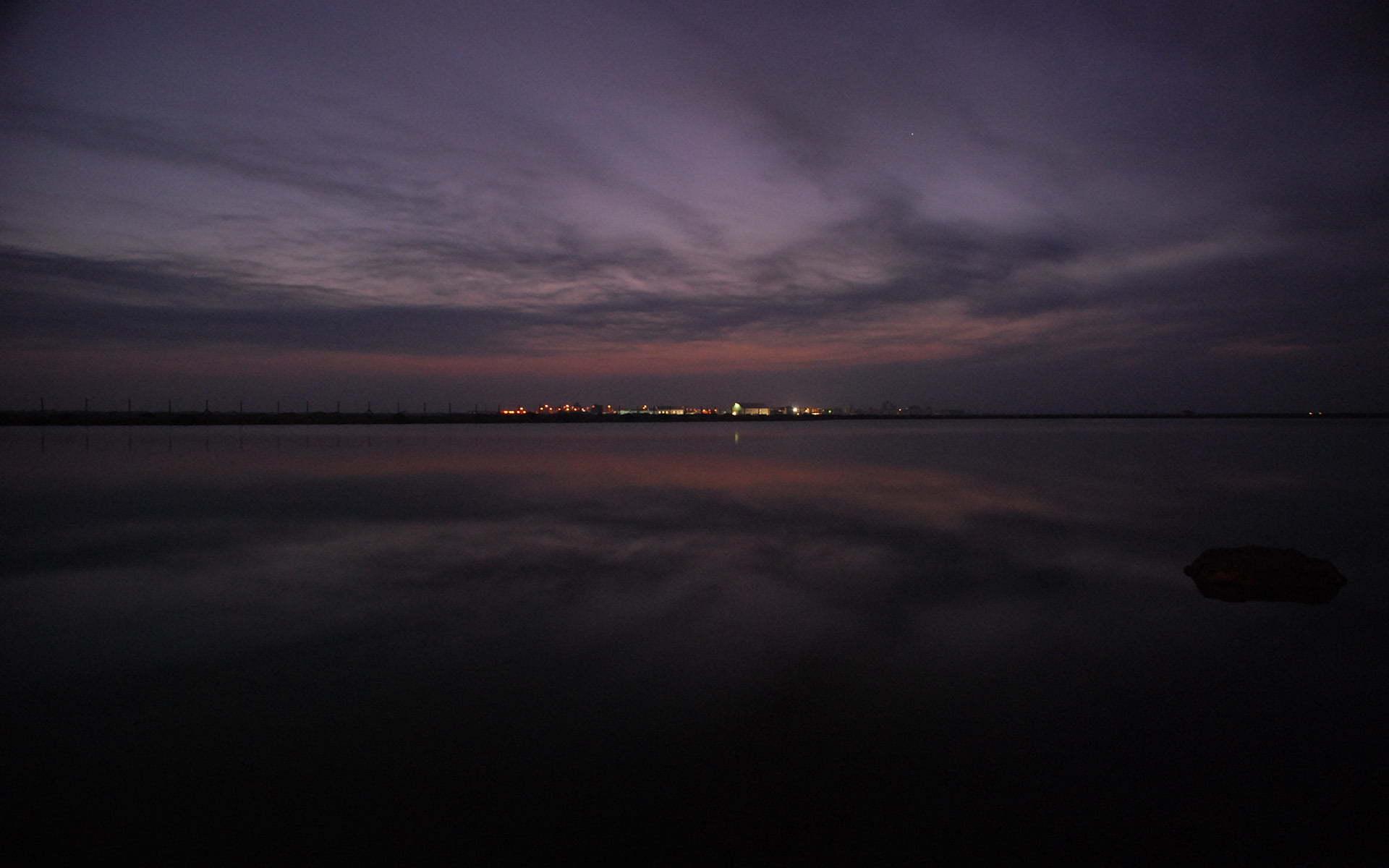 bulutlu gece