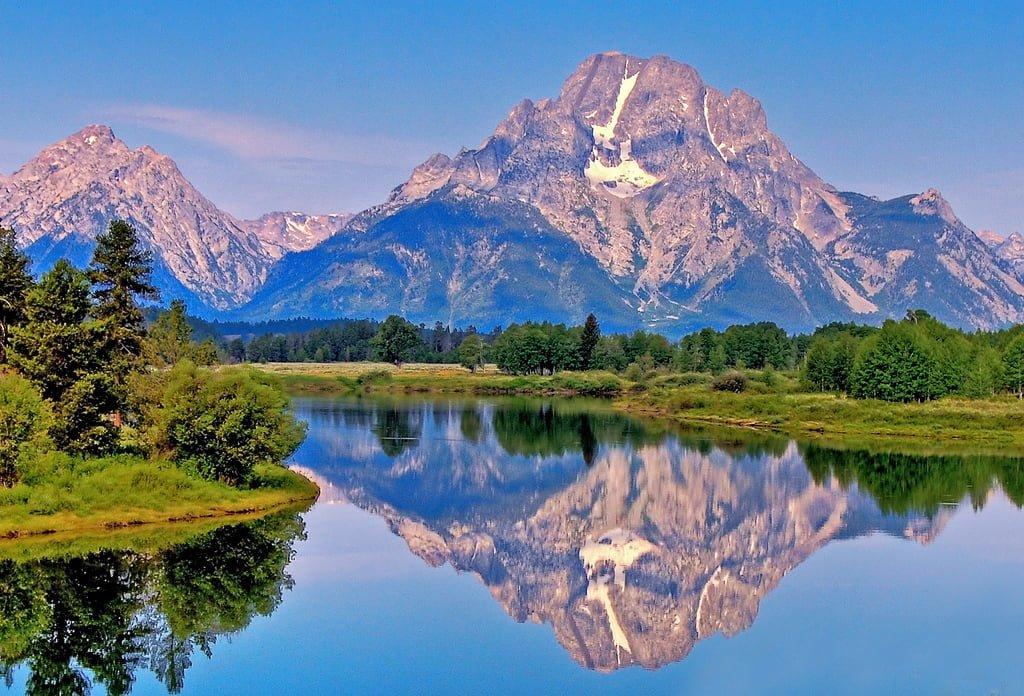 dağlar ve yansıma