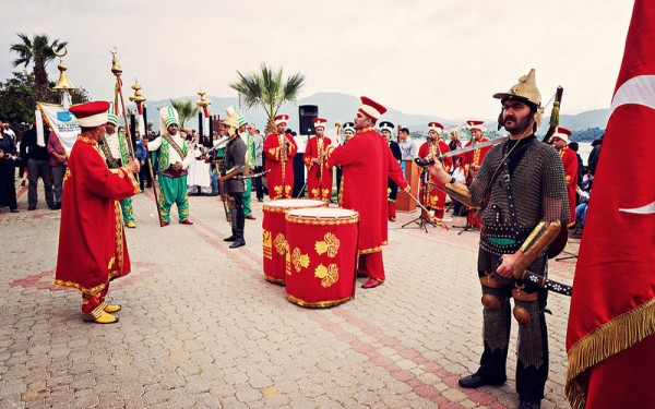 davulcu ve osmanlı askerleri