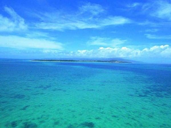 deniz mavisi manzarası