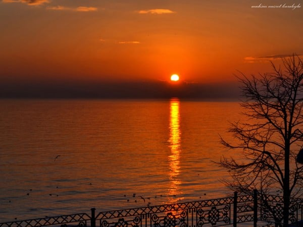 florya'da gün batımı