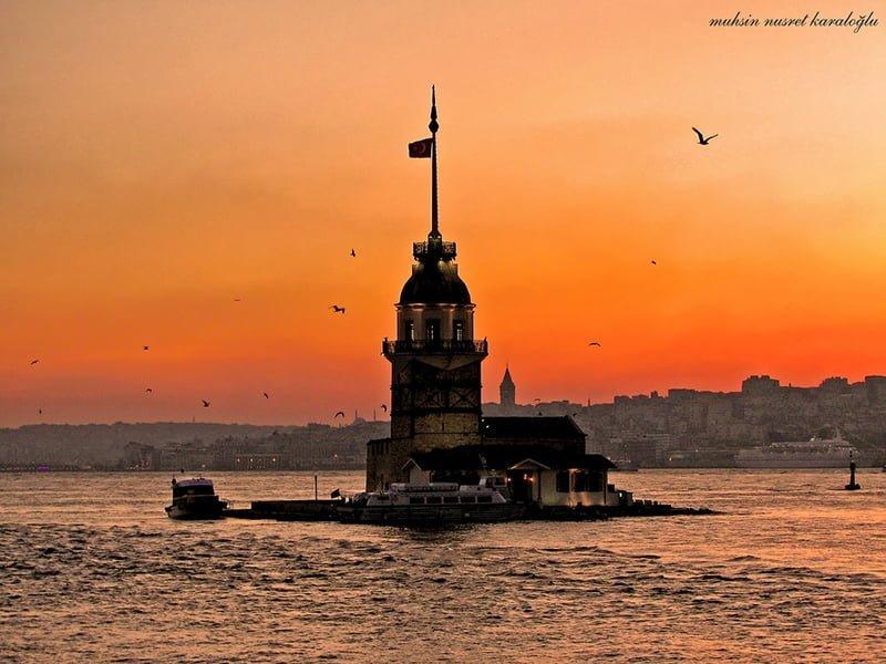 gün batarken kız kulesi