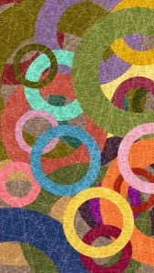 iPhone 5 Wallpaper Colorful Circles 1