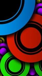 iPhone 5 Wallpaper Colorful Circles 2