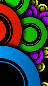 iPhone 5 Wallpaper Colorful Circles 5