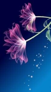 iPhone 5 Wallpaper Digital Flower 1
