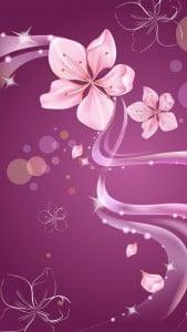 iPhone 5 Çiçekli Duvar Kağıdı 3