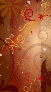 iPhone 5 Çiçek Desenli Arkaplan 3