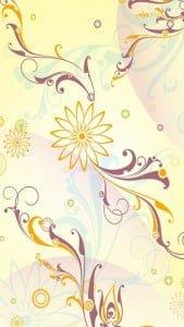iPhone 5 Çiçek Desenli Arkaplan 5