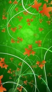 iPhone 5 Çiçek Desenli Arkaplan 8