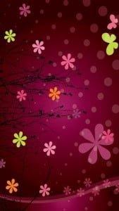 iPhone 5 Çiçek Desenli Arkaplan 9