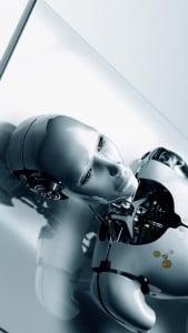 iPhone 5 Wallpaper Robot 1