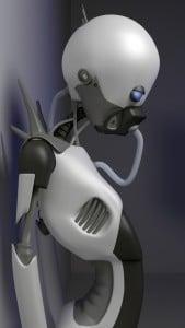 iPhone 5 Wallpaper Robot 2