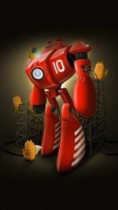 iPhone 5 Wallpaper Robot 6