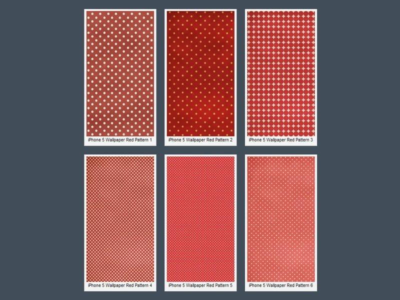 iPhone 5 Kırmızı Puantiyeli Wallpaper