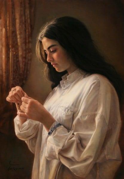 iman maleki - a girl by the window