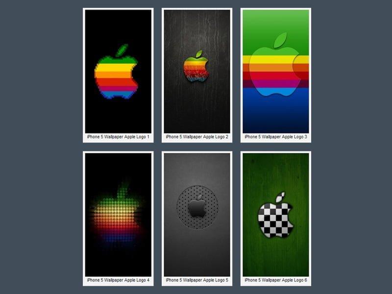 iPhone 5 Apple Logolu Wallpaper