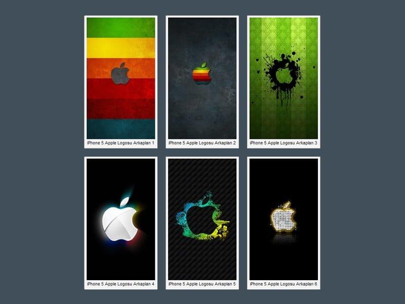 iPhone 5 Renkli Logo Wallpaper
