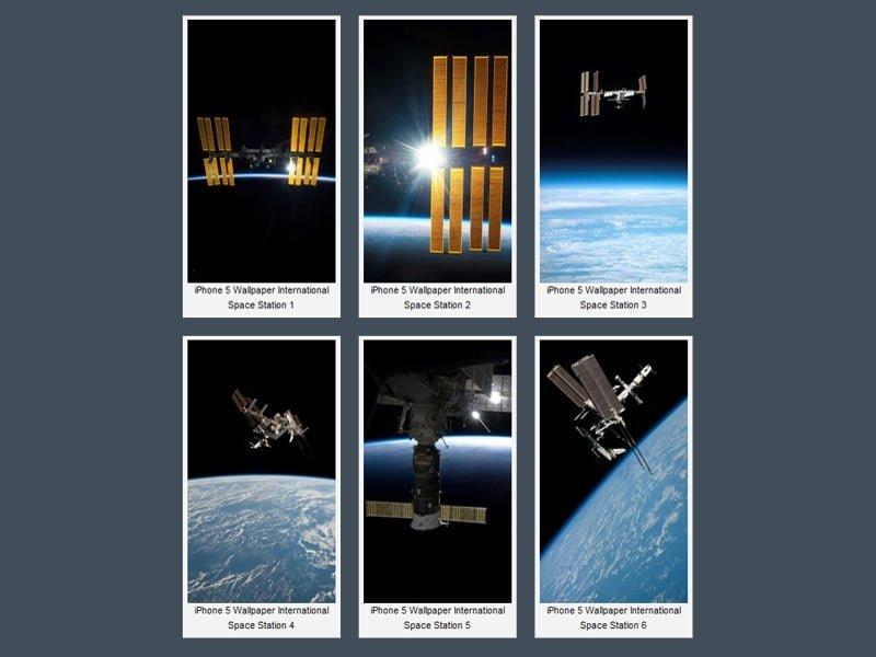 iPhone 5 Uzay Istasyonları Wallpaper
