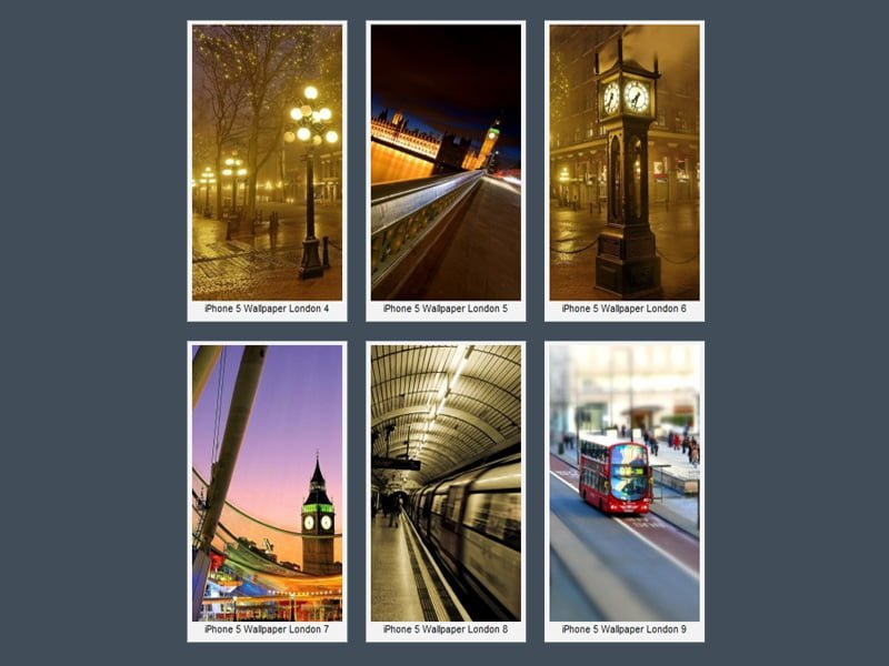 iPhone 5 Londra Wallpaper