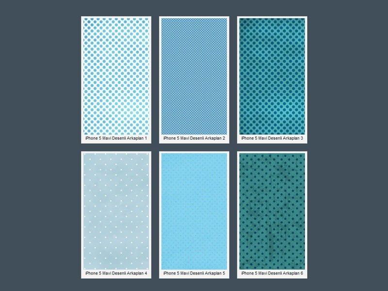 iPhone 5 Mavi Puantiyeli Wallpaper
