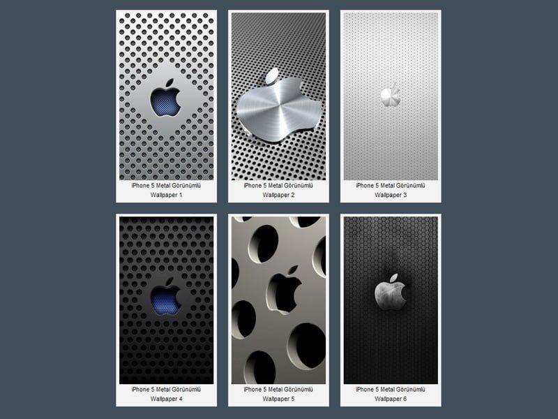 iPhone 5 Metal Görünümlü Apple Logosu