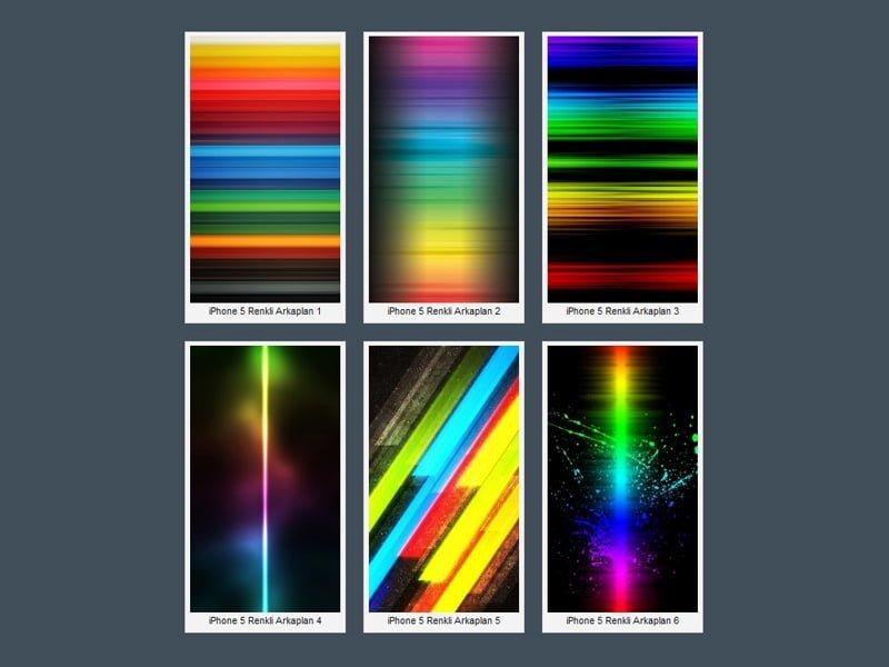 iPhone 5 Rengarenk Wallpaper