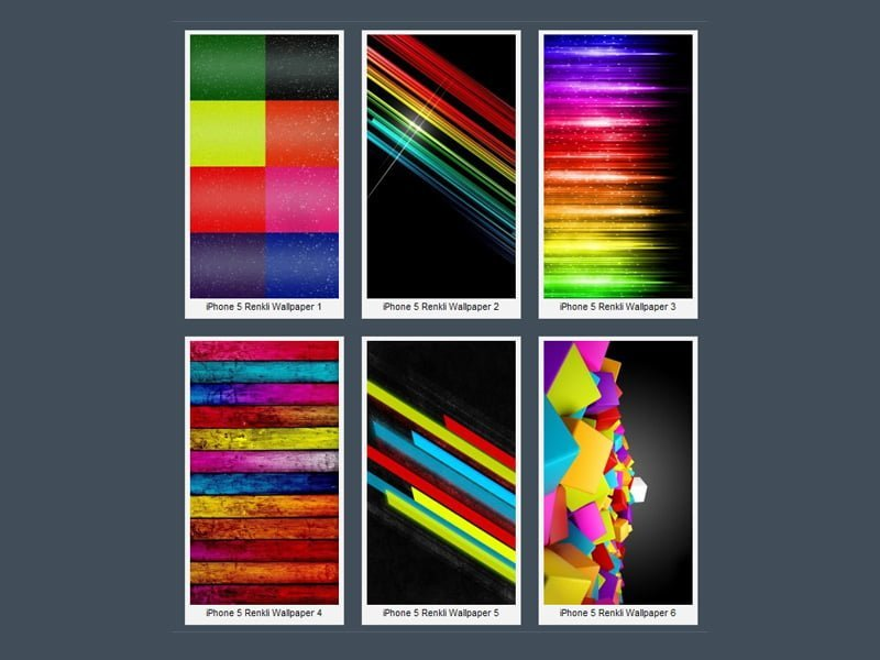 iPhone 5 Renkli Arkaplanlar – 1