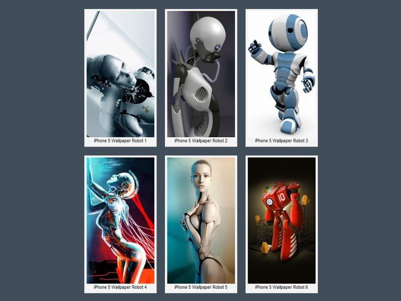 iPhone 5 Robotlar Wallpaper