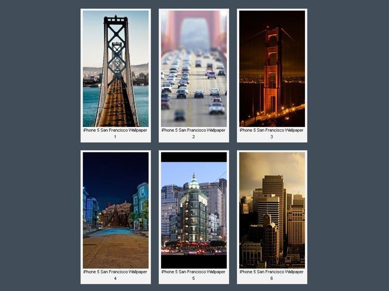 iPhone 5 San Francisco Wallpaper