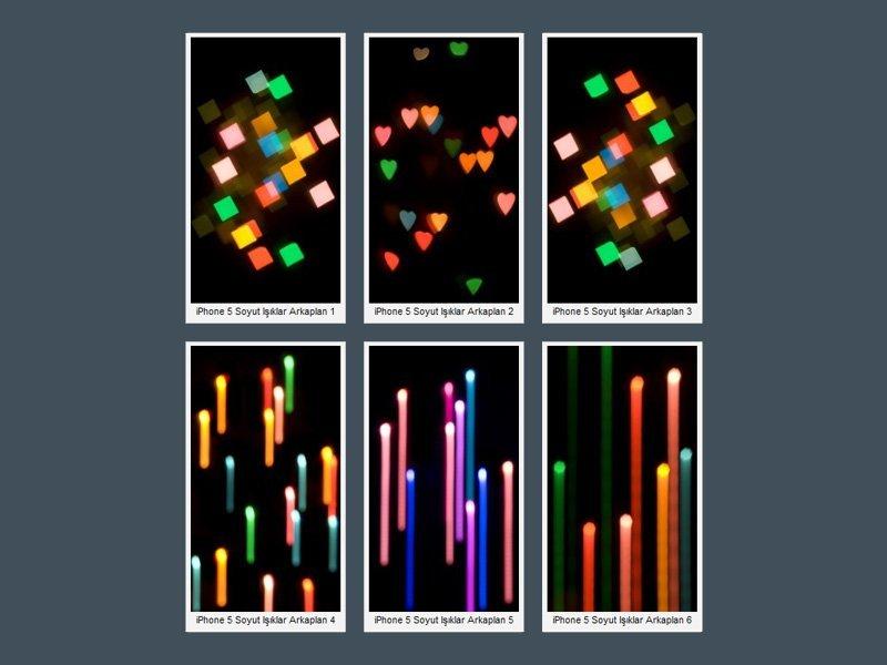 iPhone 5 Soyut Işıklar Wallpaper