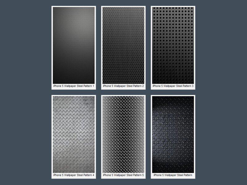 iPhone 5 Çelik Görünümlü Wallpaper