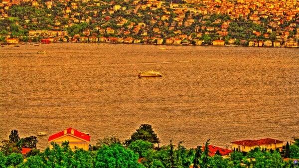 istanbul boğaz - hdr, İstanbul güzel gün batımı
