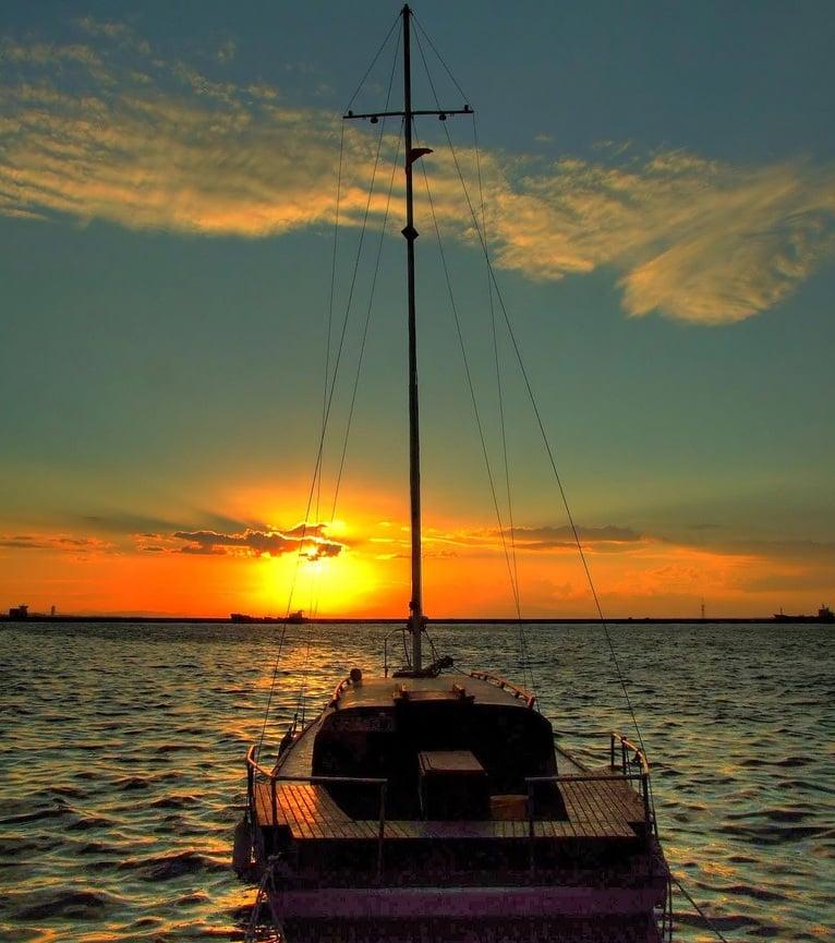 izmir günbatımı resmi