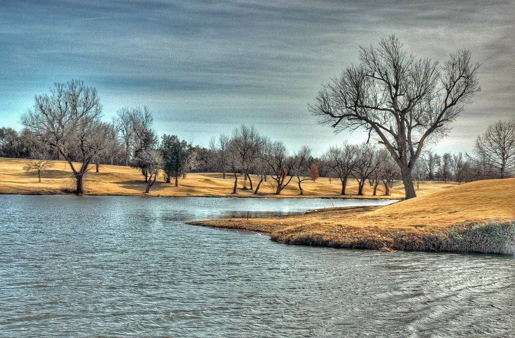 kışın meadow gölü