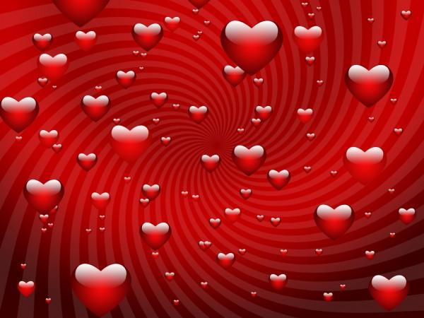 kırmızı kalp damlacıkları