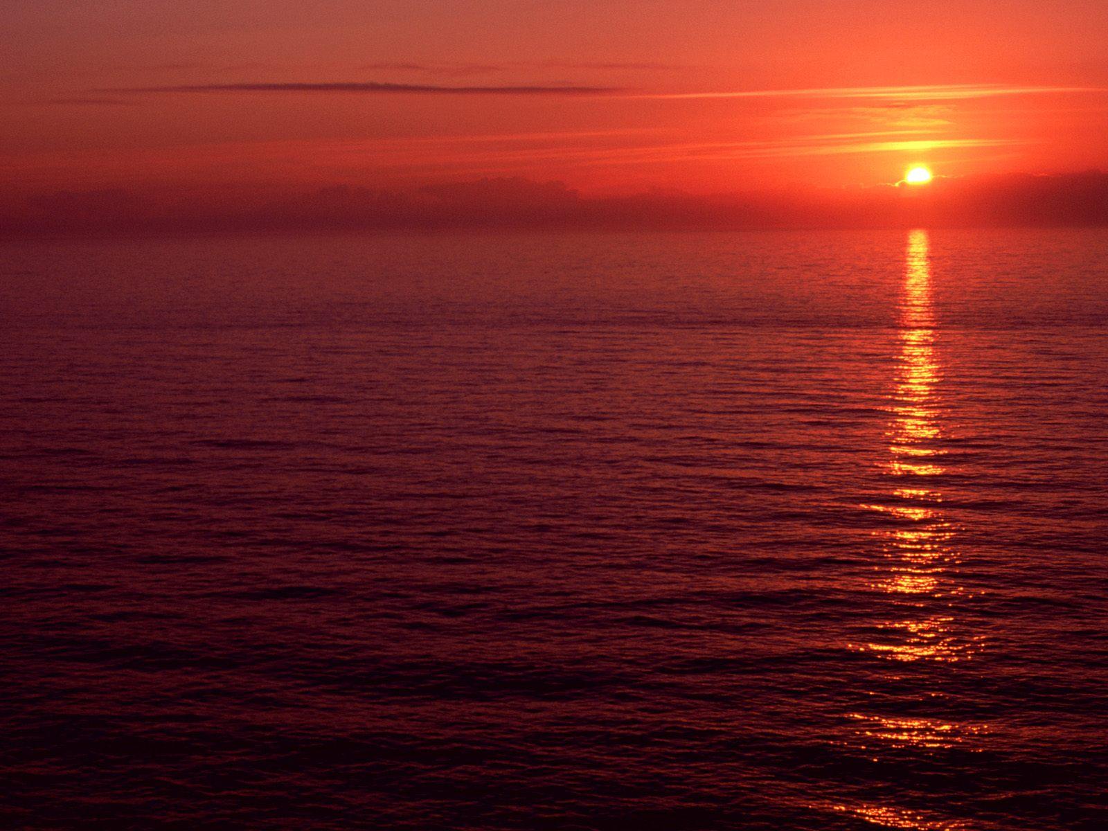 kızıl gün batımı